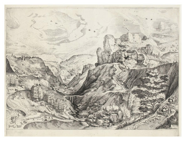 Alpine Landscape with a Deep Valley (Holl. 6; L. 8; N. Holl. 52)