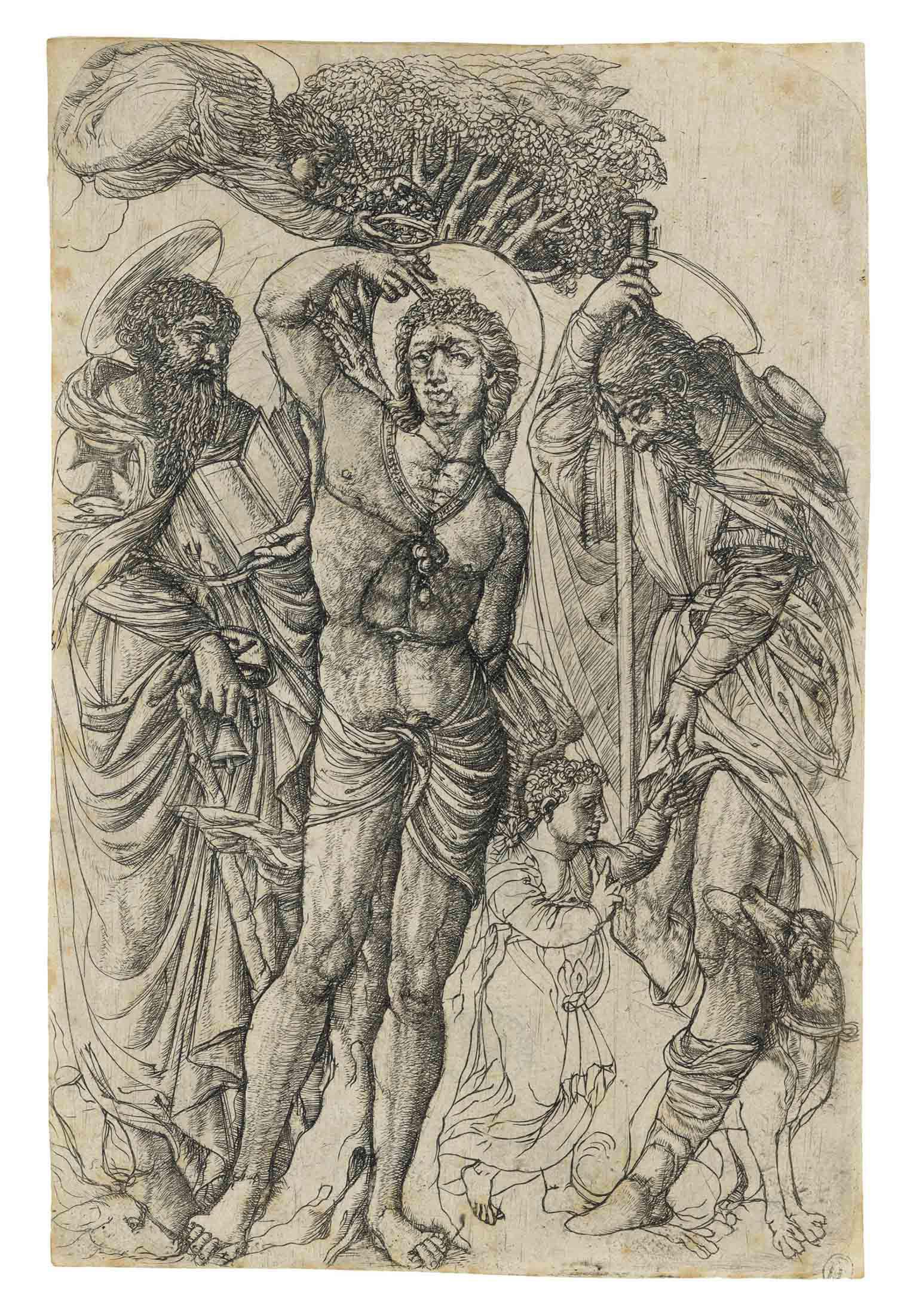 Saints Sebastian, Anthony, and Roch (B. 10; Bersier 48; Eisler 70)