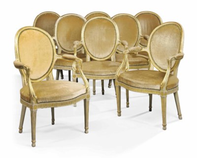 A SET OF EIGHT GEORGE III PARC