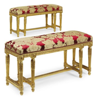 A PAIR OF LOUIS XVI GILTWOOD B