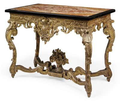 A REGENCE GILTWOOD TABLE A GIB