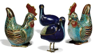 A GROUP OF CHINESE CLOISONNÉ E