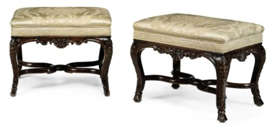 A PAIR OF REGENCE WALNUT TABOU