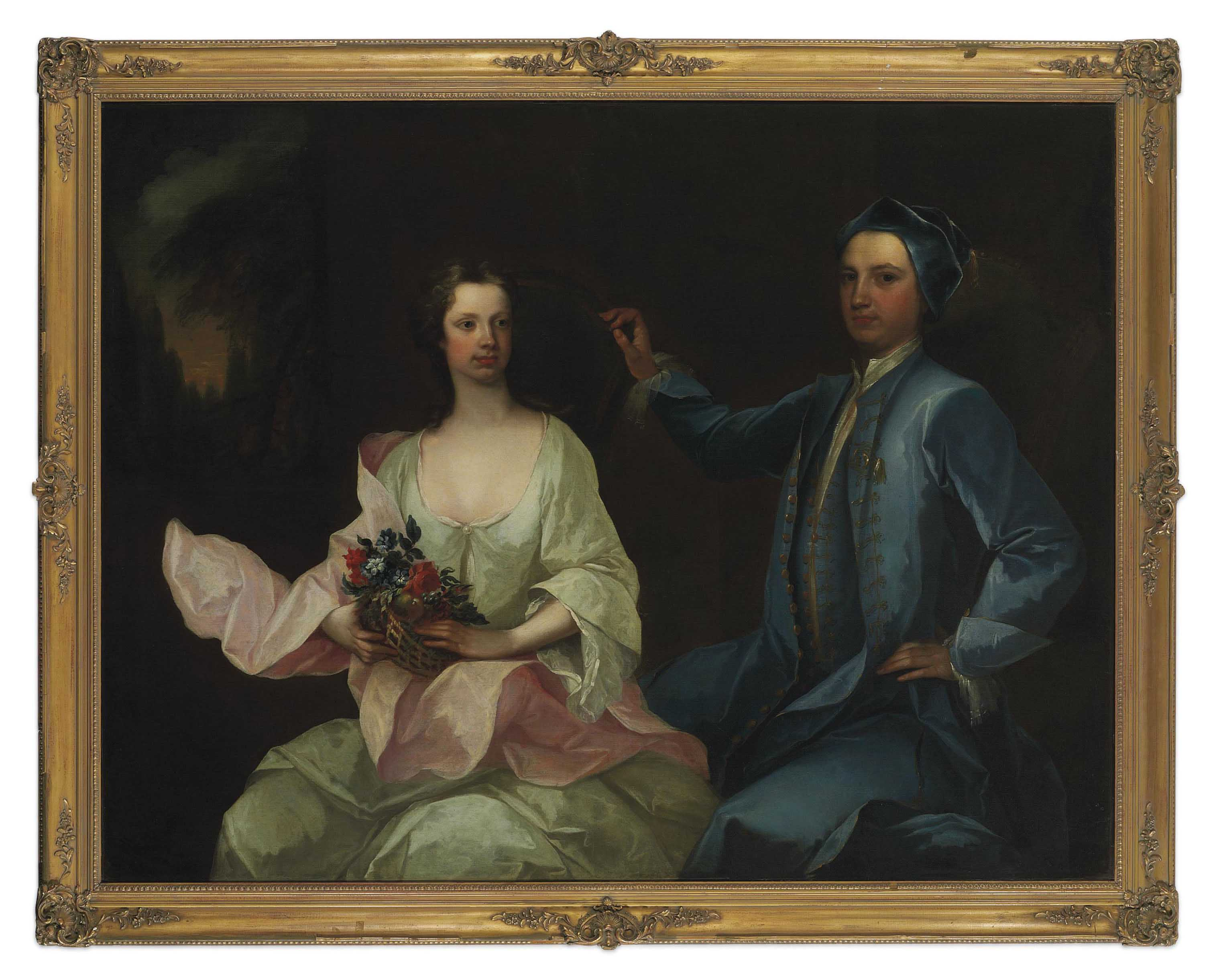 Double portrait of Robert Mason of Masonbrook, Loughrea, County Galway, and his wife Sara Monck