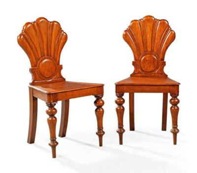 A PAIR OF EARLY VICTORIAN OAK