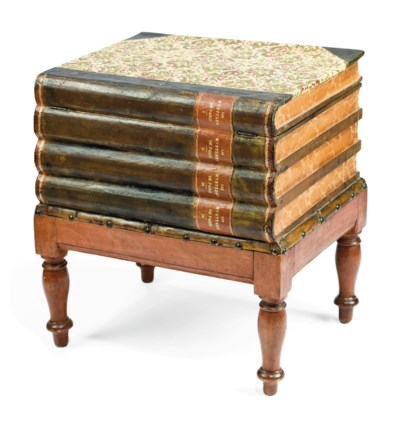 AN ENGLISH STAINED WOOD AND LE