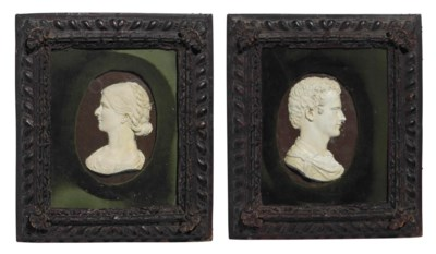 A PAIR OF FRENCH OVAL PLASTER
