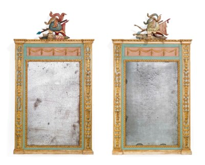 A PAIR OF NORTH ITALIAN PARCEL