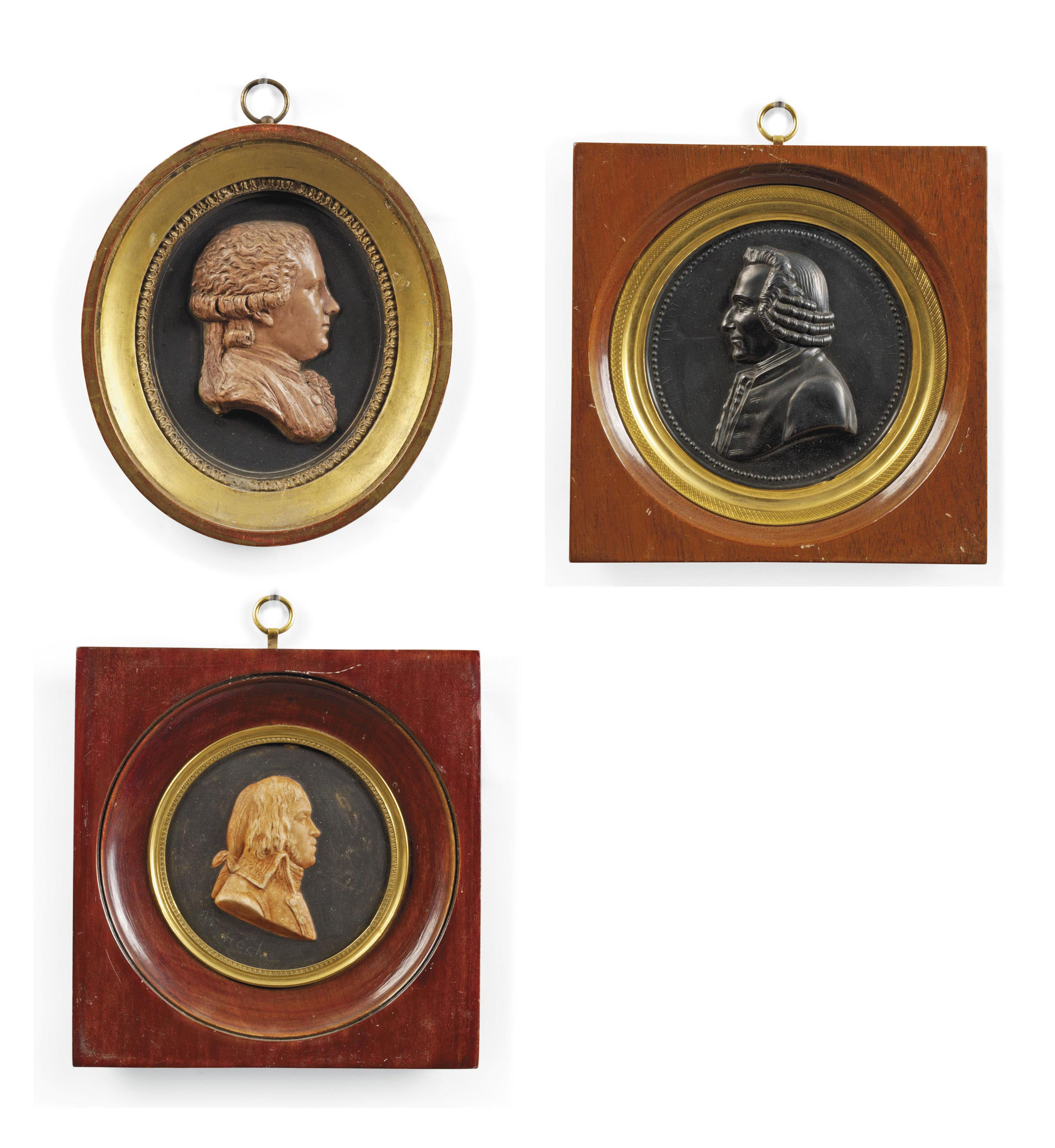 A GROUP OF THREE FRENCH FRAMED