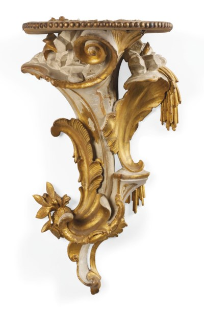 A VENETIAN PARCEL-GILT AND WHI