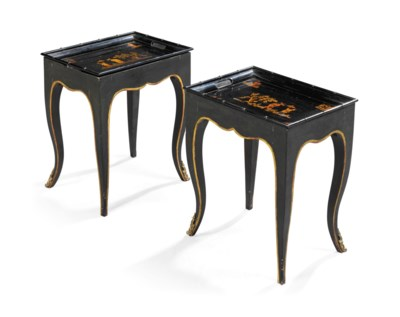 A PAIR OF LOUIS XV-STYLE PARCE