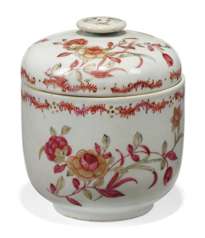 A CHINESE PINK ENAMELLED AND G