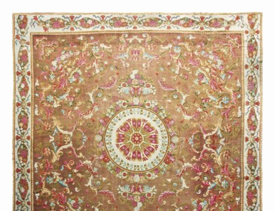 A LARGE AXMINSTER CARPET