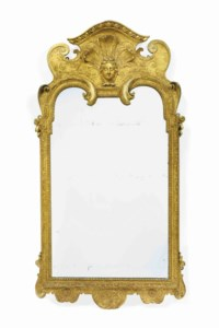 A GEORGE I GILTWOOD AND GILT-GESSO GIRANDOLE