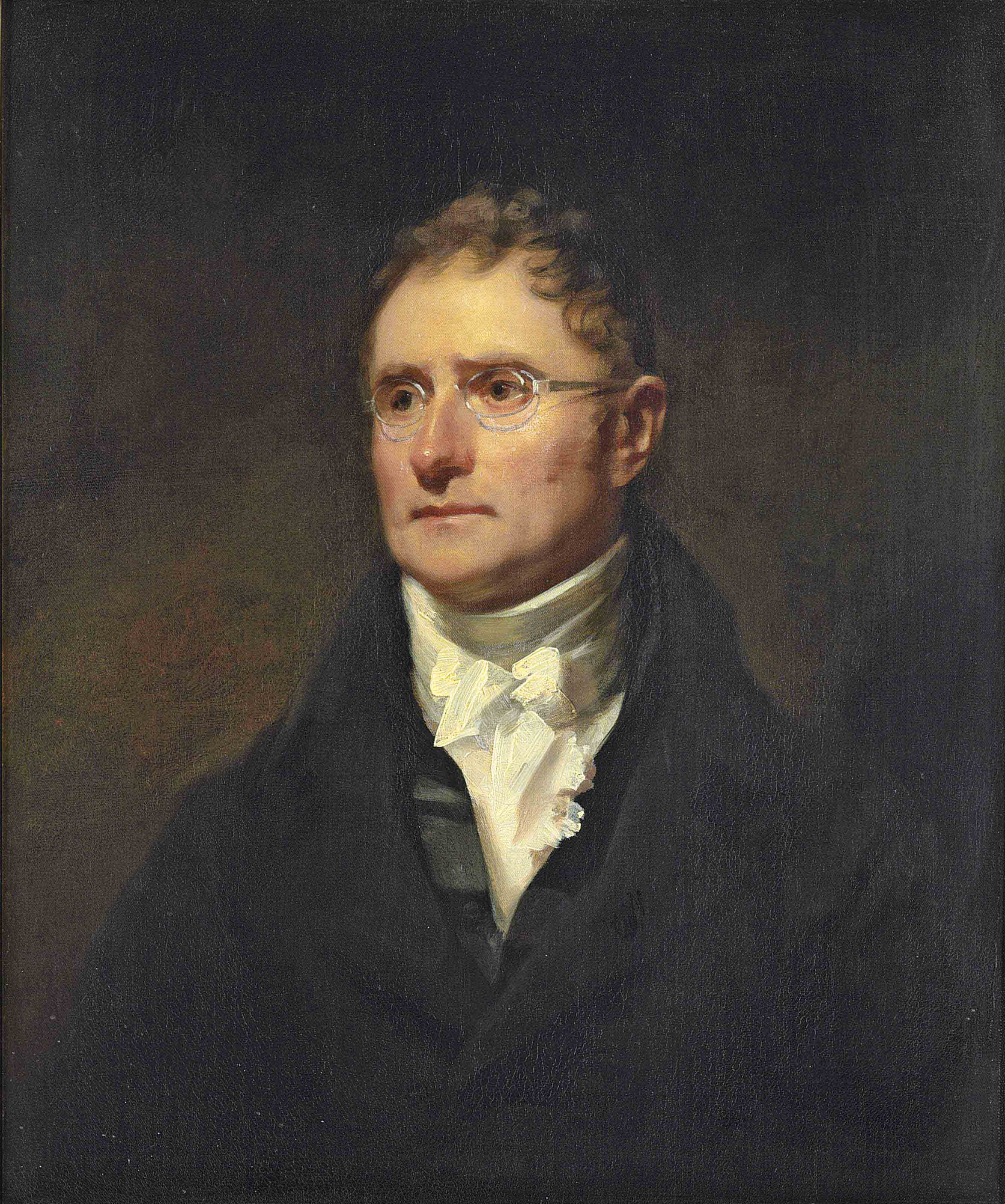 Portrait of George Thomson, half-length, in a black coat and a white shirt