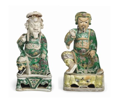 TWO ENAMELLED BISCUIT FIGURES