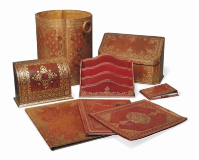 A MATCHED SET OF BROWN AND RED