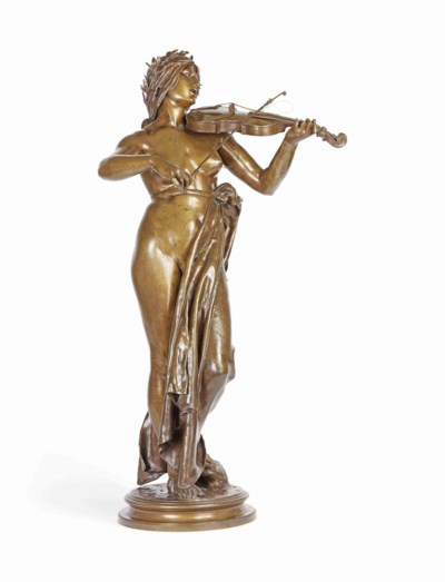 A FRENCH BRONZE MODEL OF A VIO