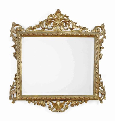 A GILTWOOD PICTURE FRAME MIRRO