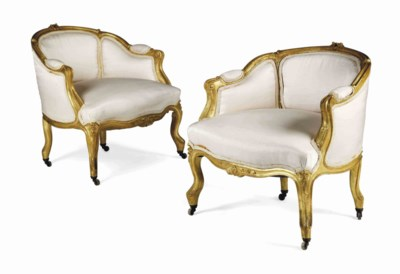 A PAIR OF FRENCH GILTWOOD LOW