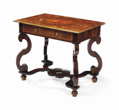 AN ANTIQUARIAN ROSEWOOD AND OY