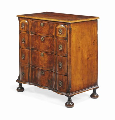 A DUTCH WALNUT CHEST