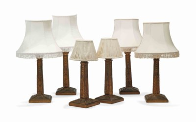 A SET OF SIX COLUMNAR TABLE LA
