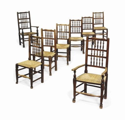 A HARLEQUIN SET OF EIGHT ASH,