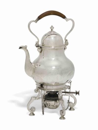 AN EDWARD VII SILVER TEA-KETTL