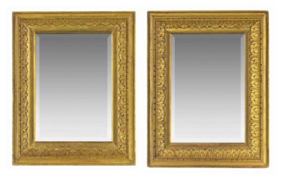 A PAIR OF ENGLISH GILTWOOD PIC