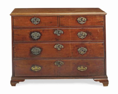 A GEORGE II MAHOGANY CHEST