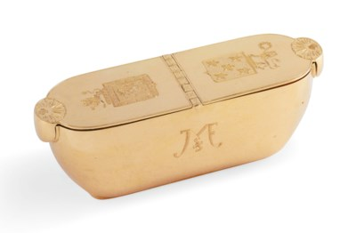 A PORTUGUESE GOLD DOUBLE SNUFF