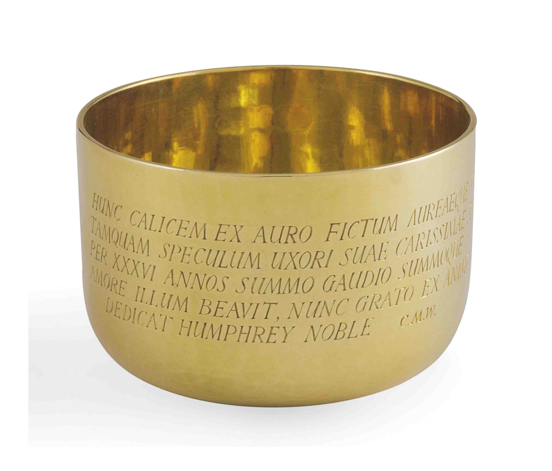 AN ELIZABETH II GOLD TUMBLER-CUP