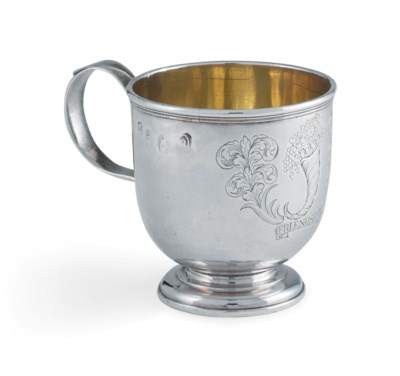 A QUEEN ANNE SILVER TOT-CUP