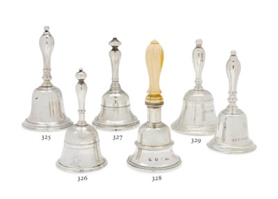 A GEORGE I SILVER TABLE-BELL