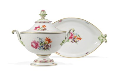 A MEISSEN (MARCOLINI) OVAL TWO