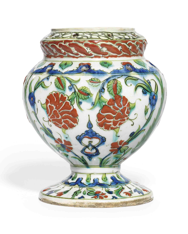 An iznik pottery flower vase ottoman turkey circa 1590 all an iznik pottery flower vase reviewsmspy