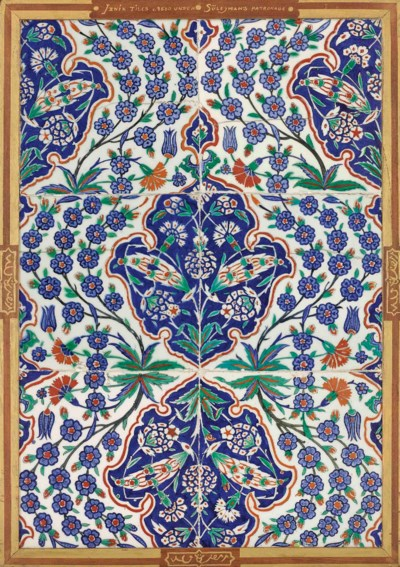 AN IZNIK TILE PANEL