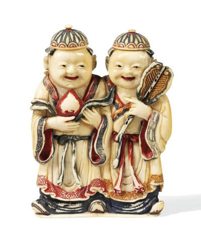 A CHINESE IVORY DOUBLE SNUFF B