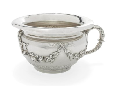 A FRENCH SILVER CHAMBER-POT