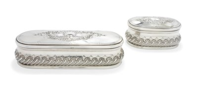 TWO PORTUGUESE SILVER DRESSING