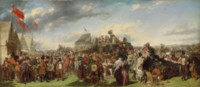 The Derby Day: the 'first study' for the celebrated painting