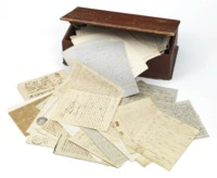 [BOLIVAR, Simon (1783-1830)]. A collection of approx 192 documents, 1757-1916 and n.d., the papers of Bolivar's nephew, Fernando, including letters and documents relating to the last months of the life of Simon Bolivar, his estate and heirs, and later correspondence. The collection comprises: