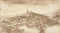 View of Castel di Poggio, Tuscany