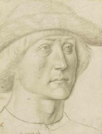Portrait of a man, bust-length, wearing a hat