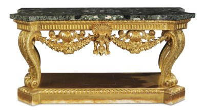 A GEORGE II GILTWOOD SIDE TABL