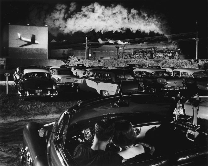 Hot Shot Eastbound at the Iaeger Drive-in, West Virginia, 1956