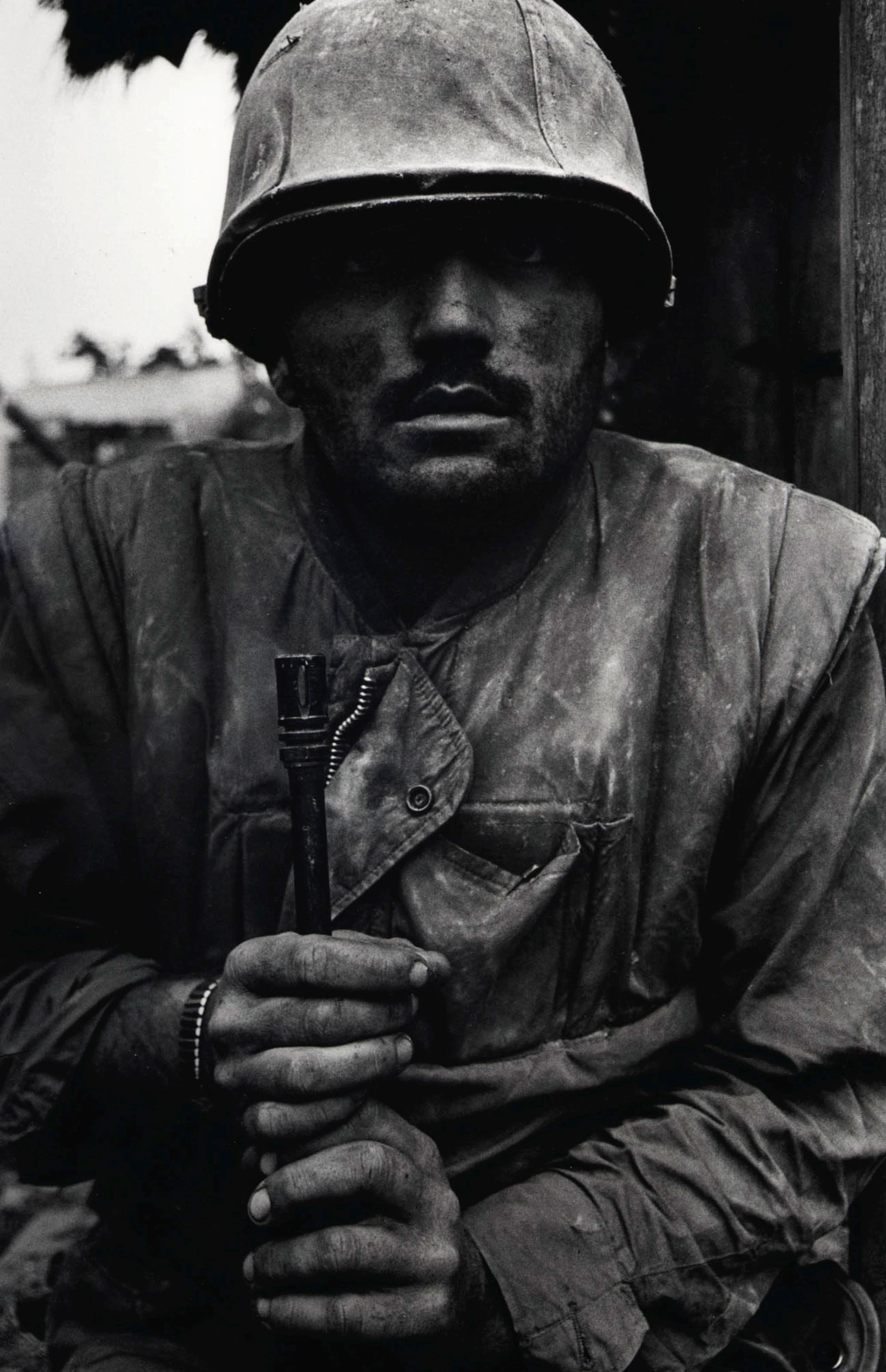 Shell-shocked Marine, Vietnam, Hue, 1968