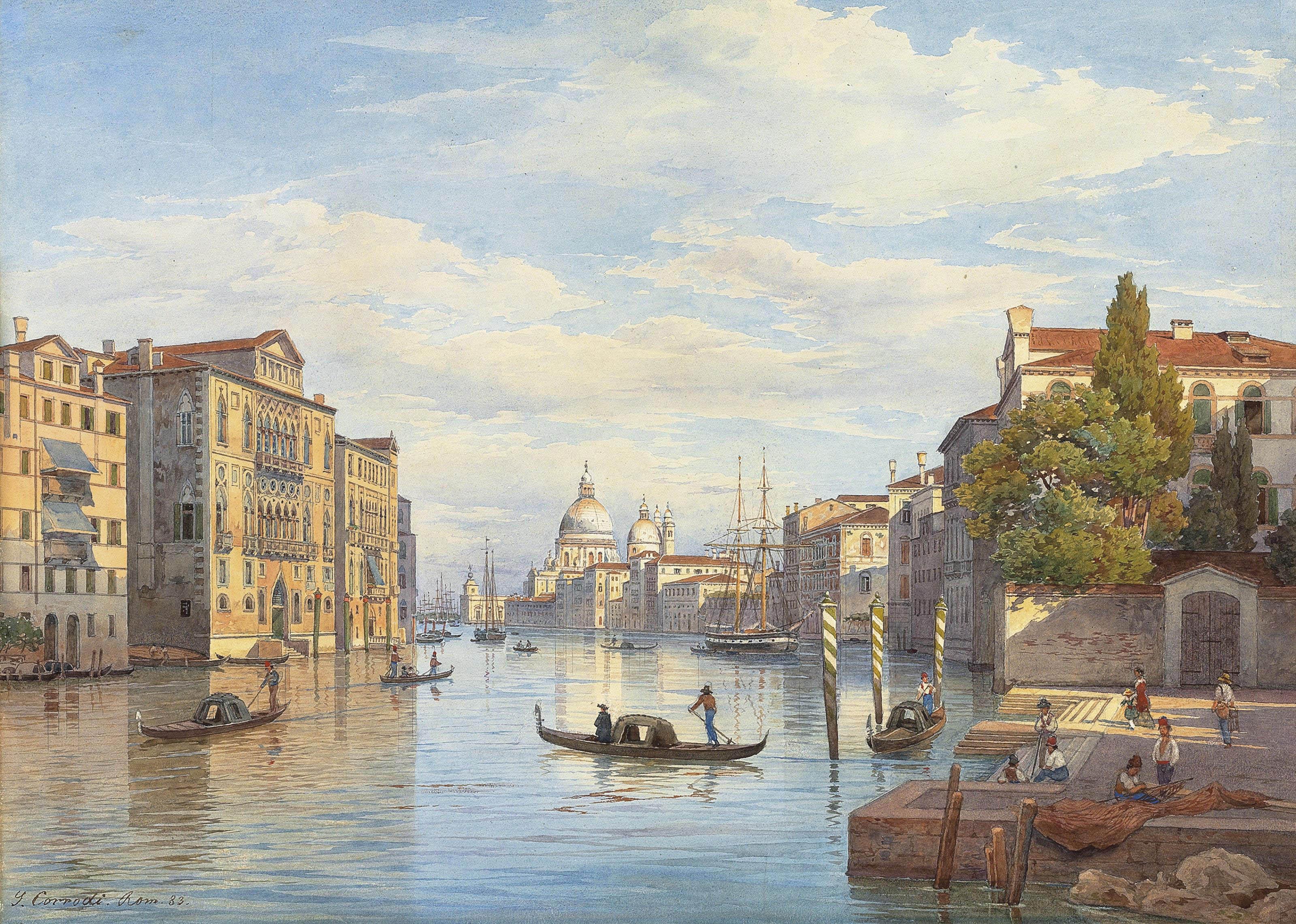 The Grand Canal and the Basilica of Santa Maria della Salute, Venice