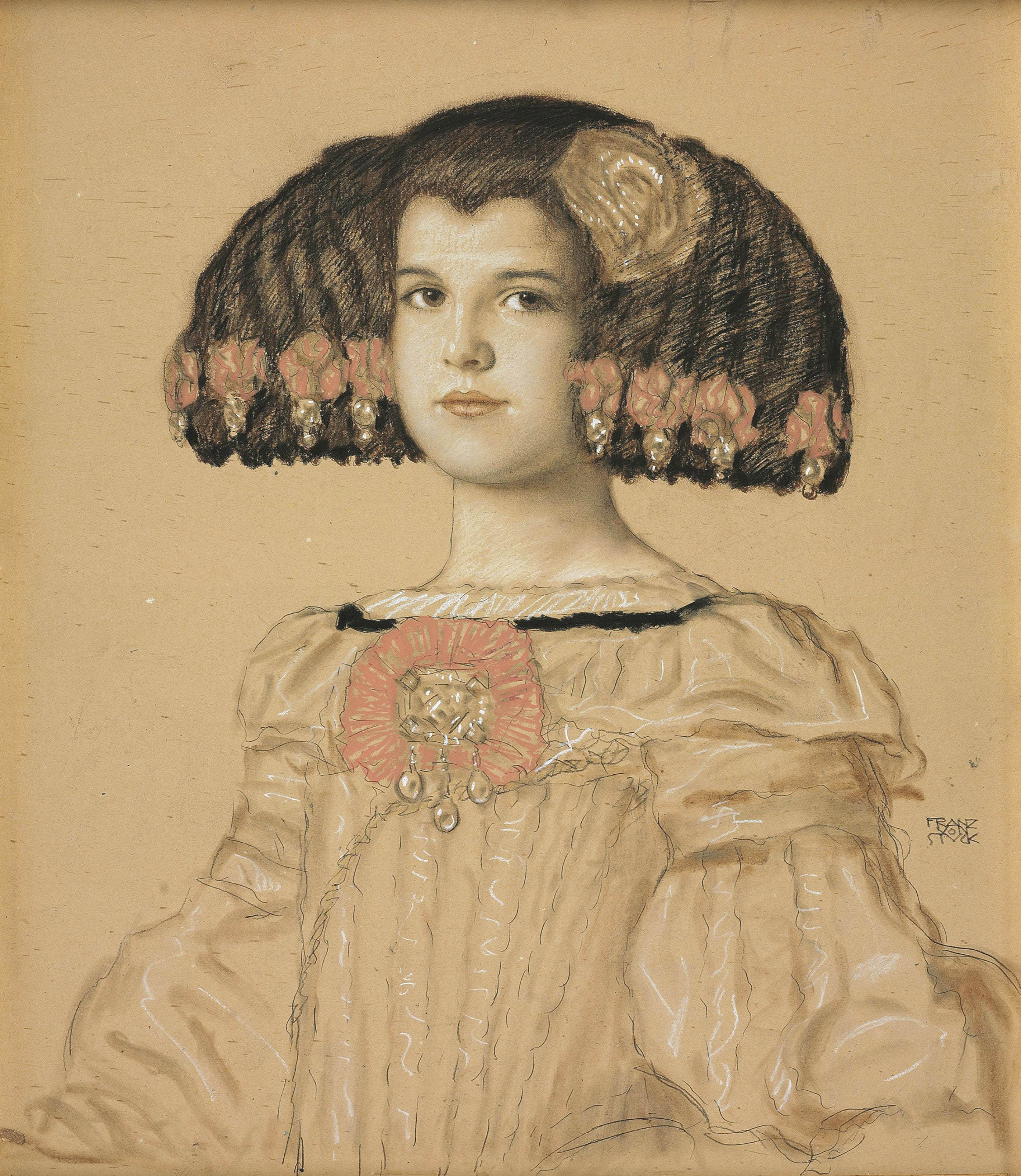 Portrait of Mary, the artist's daughter, in Spanish costume